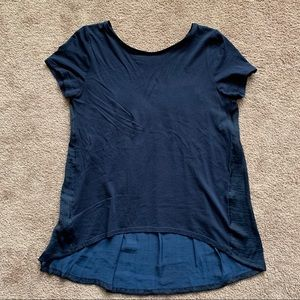 Loft Blue Short Sleeve Tunic